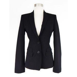Hugo Boss Black 2 Button Stretch Wool Blazer Sz 0